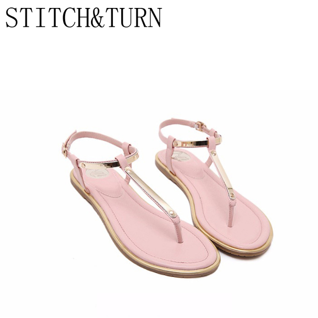 273624db5 Women s T Stripe Sandals New Summer Casual fashion sequin Sandals Flops  Shoes Flat Sandal size 33 to 43 Four colors optional
