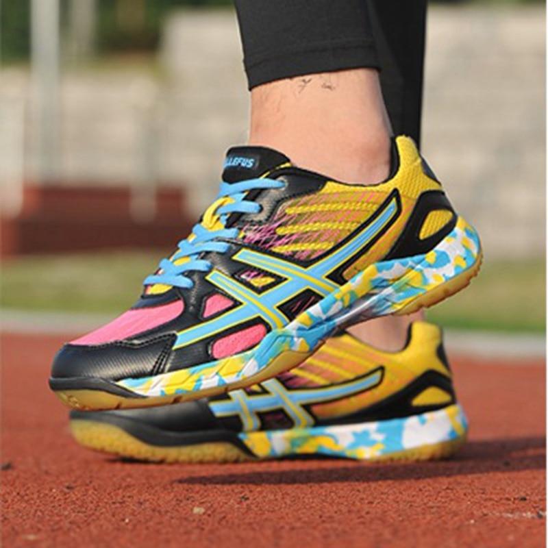 Haute respirant formation professionnelle hommes femmes chaussures de Badminton garçon fille amortissement chaussures de Tennis légères baskets d'extérieur antidérapantes