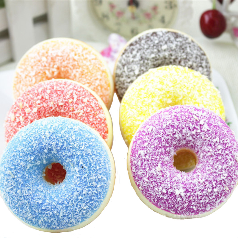 New Kawaii Donut Squishy Slow Rising Squeeze Phone Strap Charm Pendant Squishes Collection Soft Scented Kid Toy Gift Collections