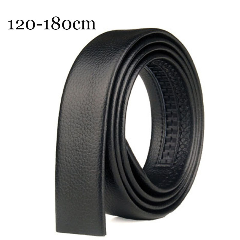 150 160cm Genuine Leather Without Buckle Men   Belt   Men's Automatic Buckle Strap Doesn't Contain Buckle Business Real Leather   Belt