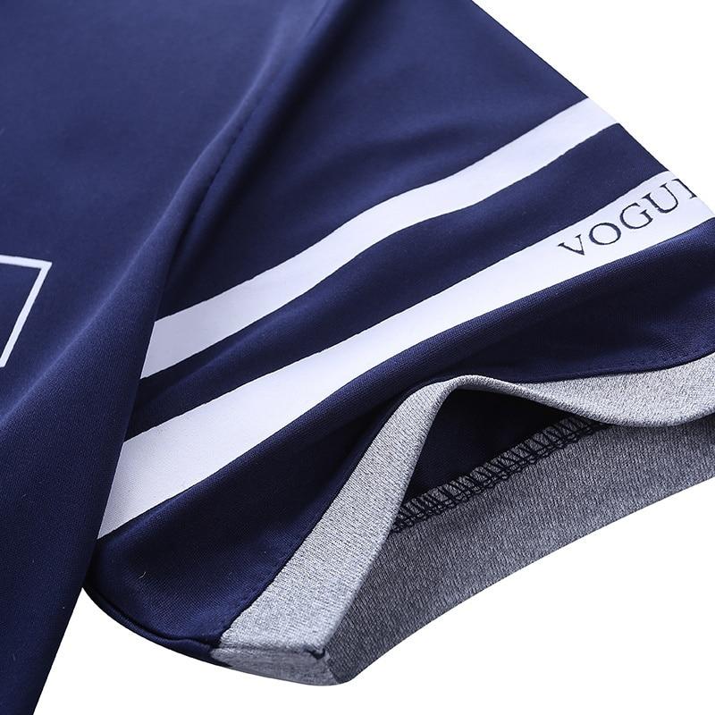 Camisa polo de verão dos homens de manga curta polo + shorts terno masculino sólido jérsei respirável 2pc topo conjunto curto de fitness sportsuits 5