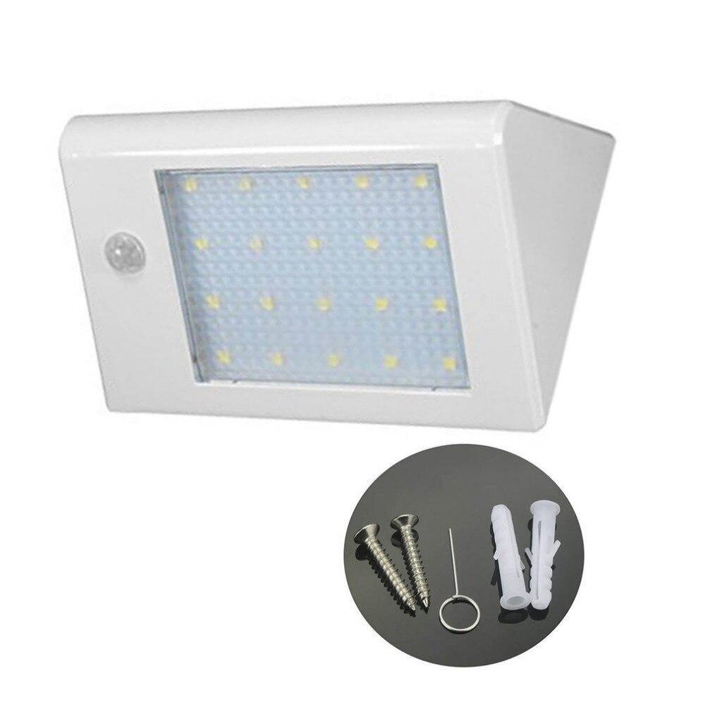 20 LED Solar Light Super Bright Motion Sensor Wall Lamp Waterproof Porch Light Energy Saving Emergency Lighting White