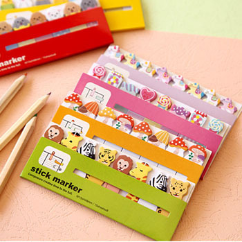 2pcs/lot New cute animals 550 style sticky notepad / Memo / message post marker / label 550 style sticky WJ0117