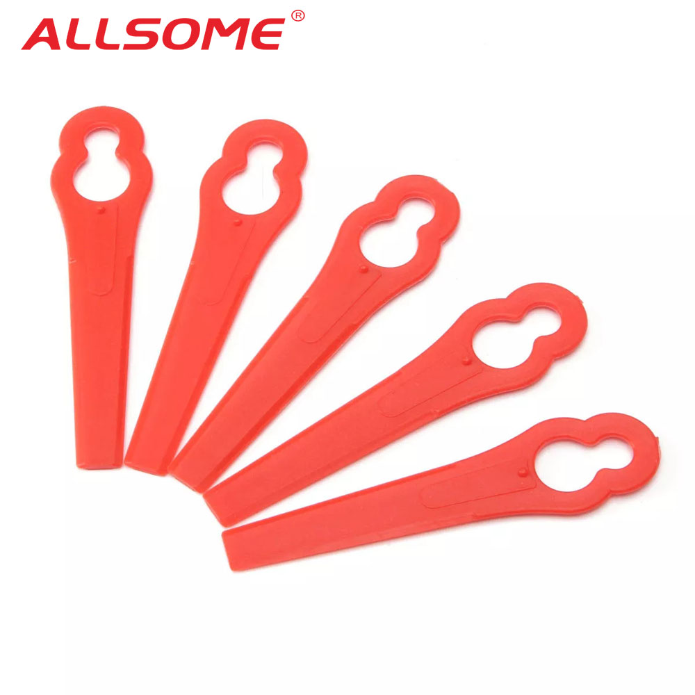 ALLSOME 50pcs Plastic Trimmer Blades Pendants For Bosch ART26LI ART26 Accutrim EasyTrim Accu Grass Trimmer Garden Timmer HT2079+