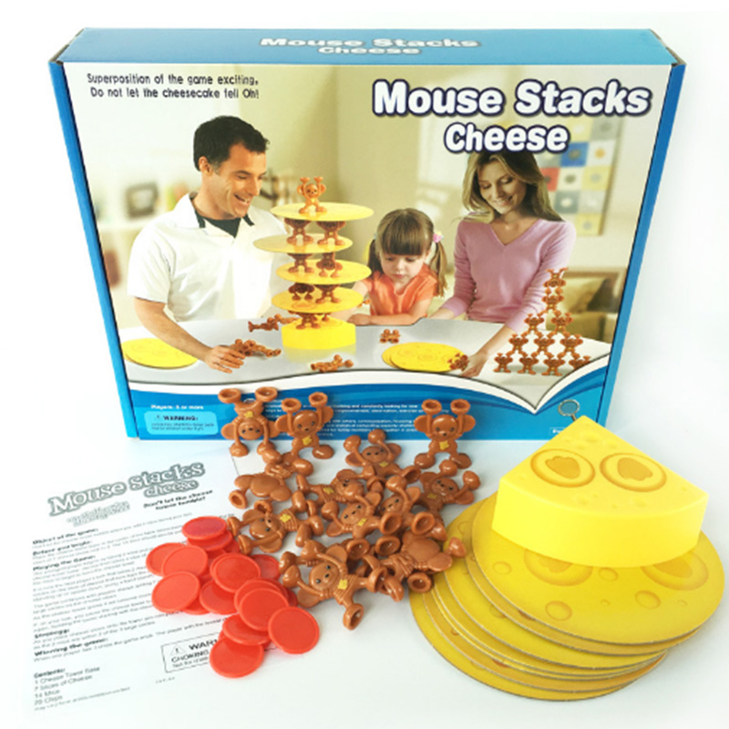 Mouse Stacks Cheese Education Board Game for Family/Party/Friends Funny Game Best Gift for Children English Version