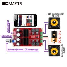 BCMaster 2x100W TPA3116 2-Channel Digital Audio Amplifier AMP Board For Arduino Portable Professional Home Theater Amplifiers