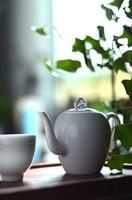 Jingdezhen ceramic white porcelain teapot kung fu tea set China's wind