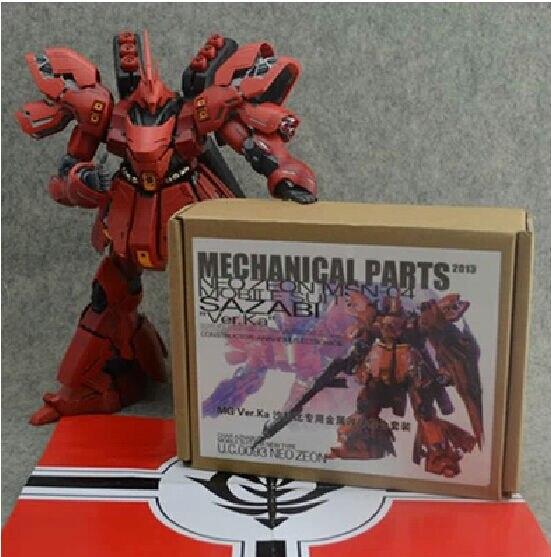Detalles de Metal para Bandai 1, 100 MG, Sazabi, ver Ka, Kit de modelos, Gundam, regalo de cumpleaños para niños, envío gratis, novedad