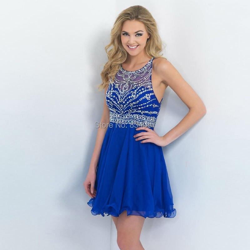 Images of Backless Blue Dress - Reikian