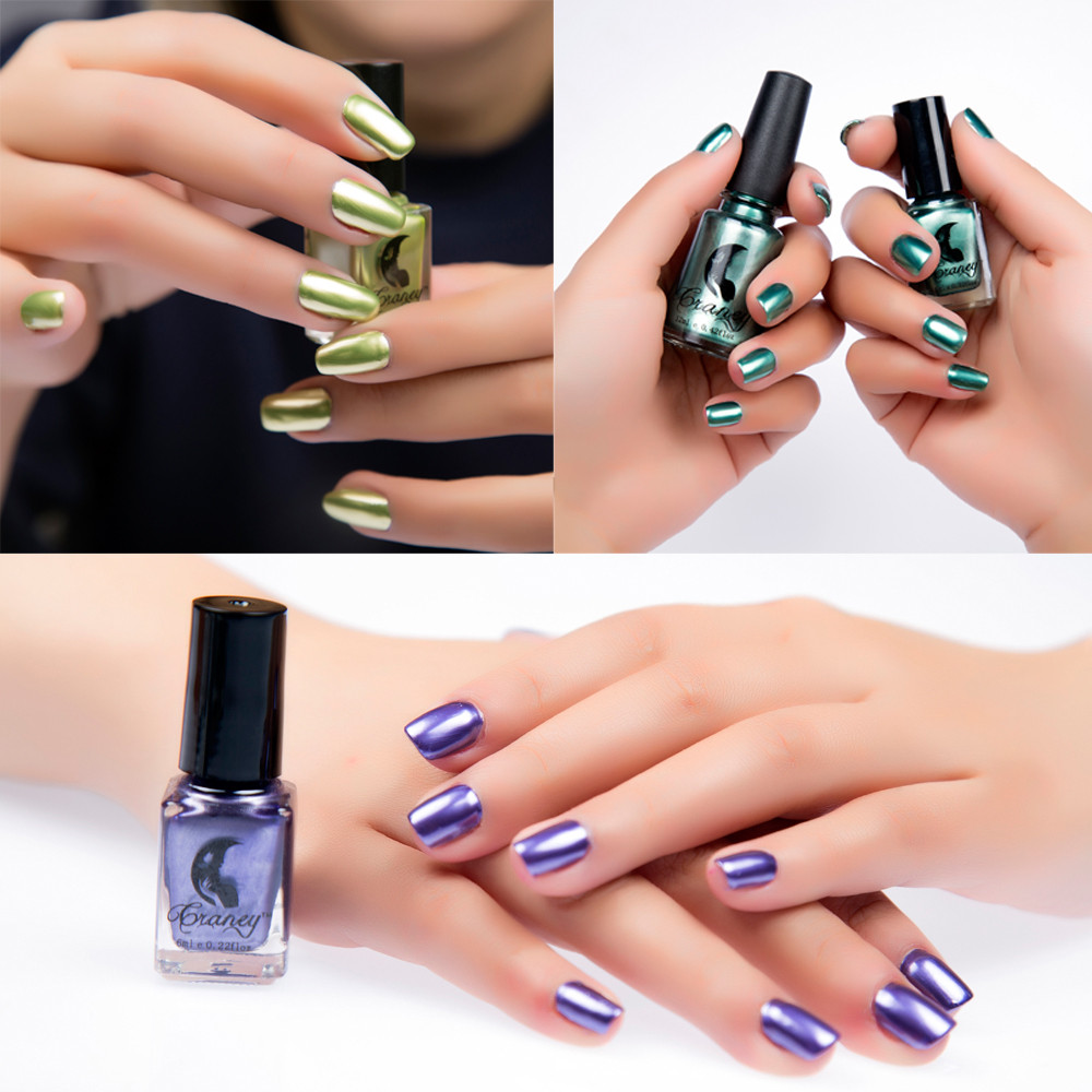 Beauty & Health New 6 Color Rose Gold Mirror Nail Polish Plating Paste Metal Color Professional Nail Decoration Diy