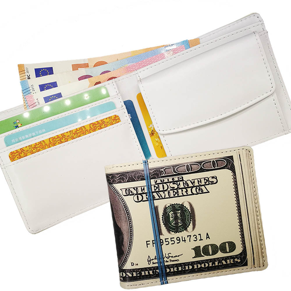 Men Women US Dollar Pound Bill Bifold Faux Leather Wallet Card Holder Purse Gift