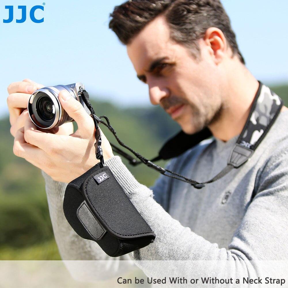 JJC Mirrorless Cámara caso bolsa suave bolso de neopreno para Canon G1X Mark III/Sony A5000/A5100/A6000/A6300 con 16-50mm lente
