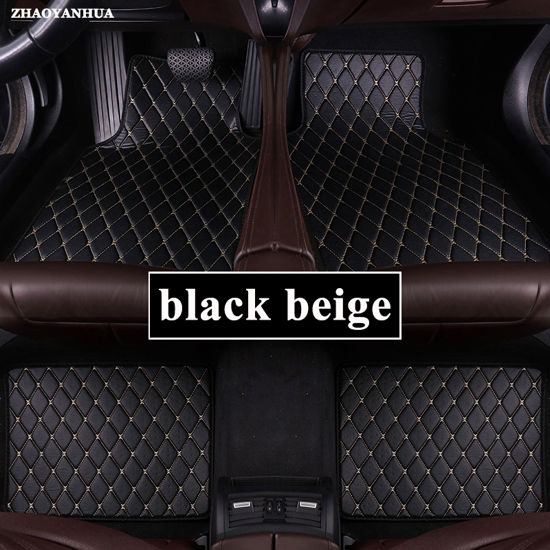 Car Floor Mats Universal for <font><b>peugeot</b></font> 5008 307 208 206 408 508 <font><b>308</b></font> 3008 301 2008 407 207 <font><b>sw</b></font> Car Leather floor mats carpet liner image