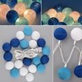 Aladin Gorgeous 3M 20 Blue Creative Handmade Cotton BALL String Light For Xmas Feast Banquet Ornament