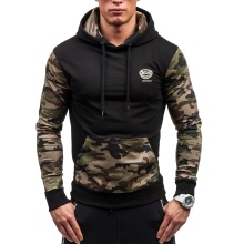 ZOGAA 2019  Mens Hoodies Casual Fashion Streetwear Stitching Camouflage Cotton Sweatshirts Men 4 Colors Size Plus S-5XL Hoodie