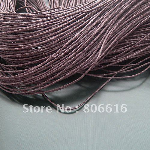 1.5MM Brown Color String Waxed Cotton Cords Ropes Line Wire Jewelry Findings Accessory