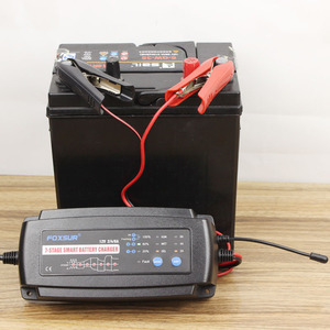 Image 2 - FOXSUR 12 V 2A 4A 8A Otomatik akıllı pil şarj cihazı, 7 aşamalı akıllı pil şarj cihazı, Araba pil şarj cihazı için JELI ıSLAK AGM akü