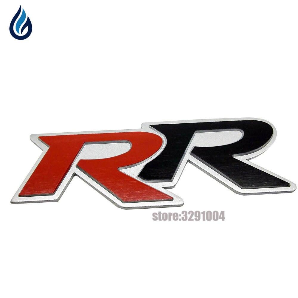 Automobile For R Logo Aluminum Emblem Trunk Decal For Volkswagen Passat Sagitar Magotan Tiguan Golf Lamando Lavida  Jetta фланец колеса volkswagen cc гольф passat бора поло lavida sagitar tiguan модификации расширяет прокладки