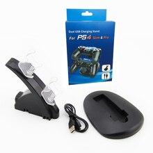 Controlador duplo Carregador Titular LED Micro Punho Rápido Carregador de Estação de Carregamento Base Dock para PS4 Controlador Gamepad Game Console