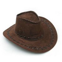 New Adult Western Cowboy Hat Hunter Gambler Wide Brim Hat One Piece Ace Cosplay Costume Party