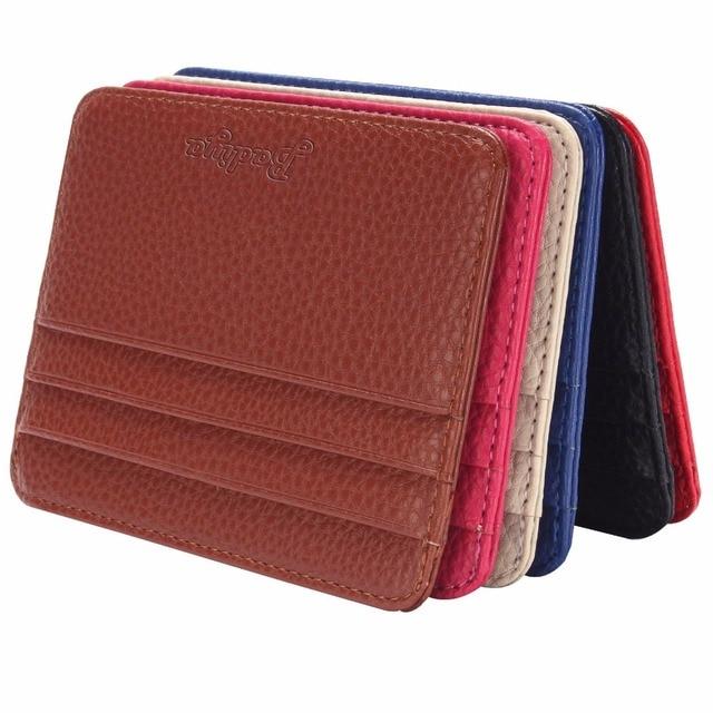 Unisex Simple Leather Credit Card Holders Slim Bank Card ID Card Protector Driver License Holder Case Bag Wallet Holder