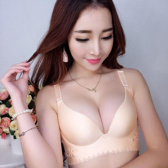 cddae0a682 Support Plunge women bra one piece sexy girl Bra lovely Push Up Bra for  chest women sexy Pushup bra Underwear Brassiere chest
