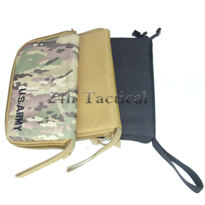 """12 """"pistola táctica de nailon bolsa de transporte portátil militar pistolera Bolsa duradera acolchada pistola/estuche de transporte de revista"""