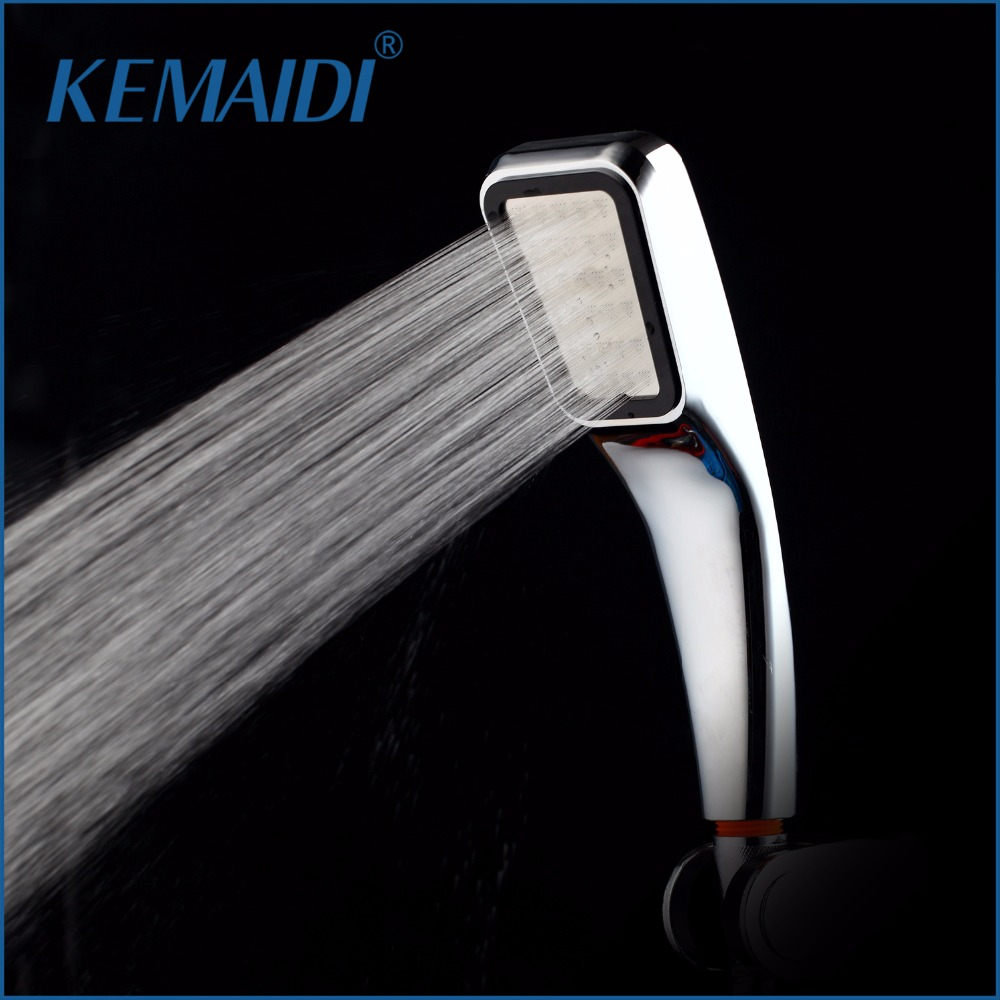 KEMAIDI Water Saving Shower Head High Pressurized 300 Hole ABS Chrome Handheld doucha Bathroom Water Booster Chuveiro Douchekop