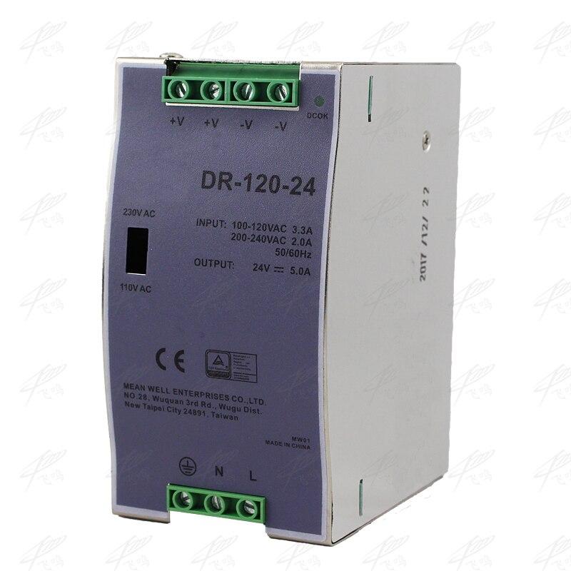 DR-120-24 120 W 24 V 5A Din rail simple sortie alimentation à découpage ac convertisseur cc