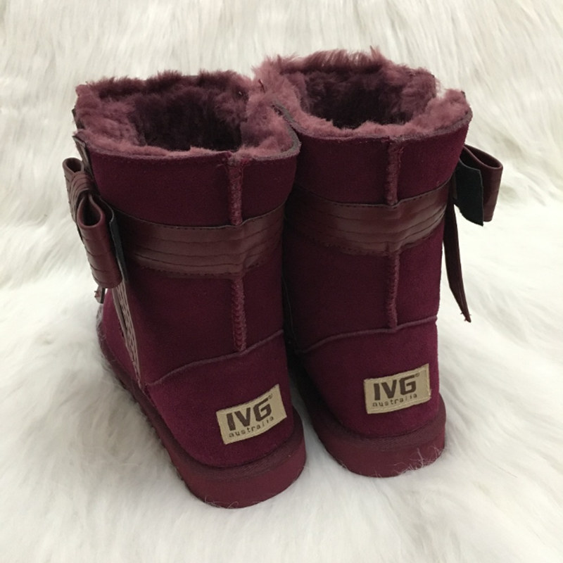 Ivg Taille 4 D'hiver Décoration 004 Bottes 001 Arc Femmes Chaude Imperméables Neige 10 002 003 Cuir Air En Nous 005 Plein Australien Grand Marque Style wZnUa4