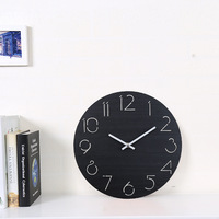 Simple Fashion Clock Living Room Large Wall Clock Round Wooden Pattern Wall Watch Simple Modern Home Decor Accessory Gifts