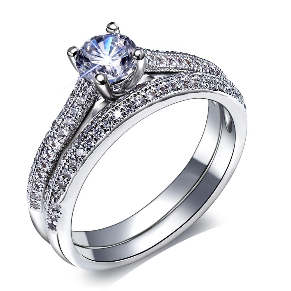 promotion engagement ring set promotion wedding ring for women New Bridal wedding Rings set Engagement ring Women Classic design Vintage Jewelry Fashion Beautiful 2 pcs Ring for wedding