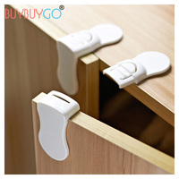 16Pcs Children Multi Function Security Locks Cabinet Lock Household Crash Anti Folder Hand Protection Supplies Right
