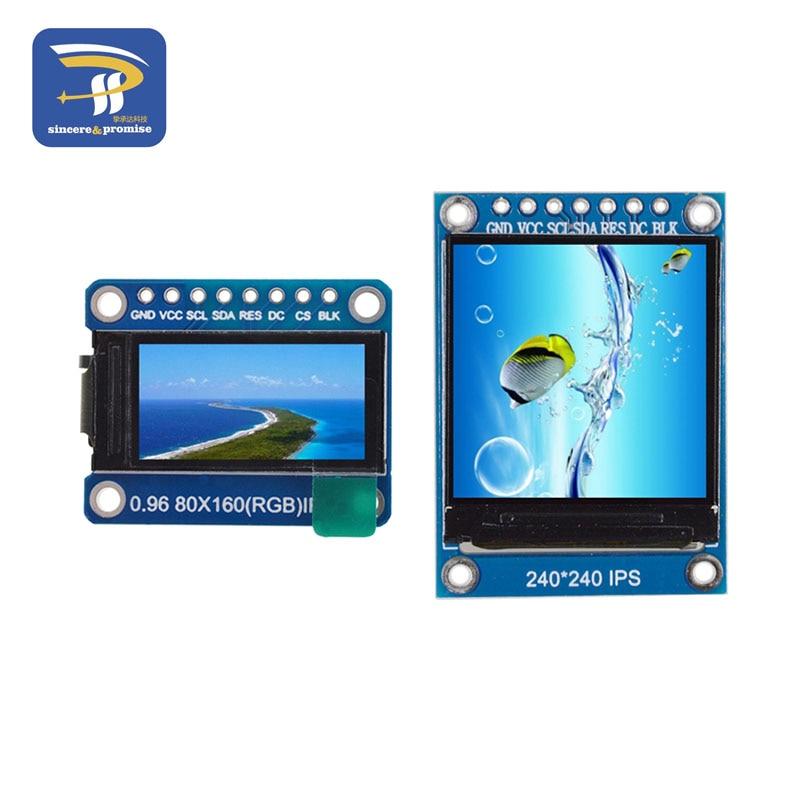nicht Oled Tft Display Ips 0,96/1,3 Inch 7 P Spi Hd 65 K Volle Farbe Lcd Modul St7735/st7789 Stick Ic 80*160 240*240 Elegant Im Stil