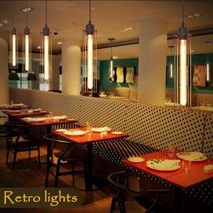 Image 4 - Retro Vintage Pendant Lights Steam Punk Industrial Style Single Head Use Edison Light Bulb hanglamp luminaria pendant lamp