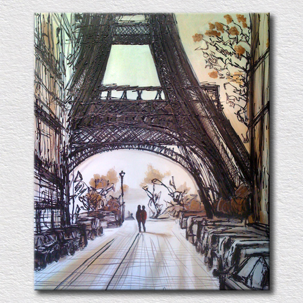 Eiffel Tower Pictures Reproduction Oil Painting Beautiful