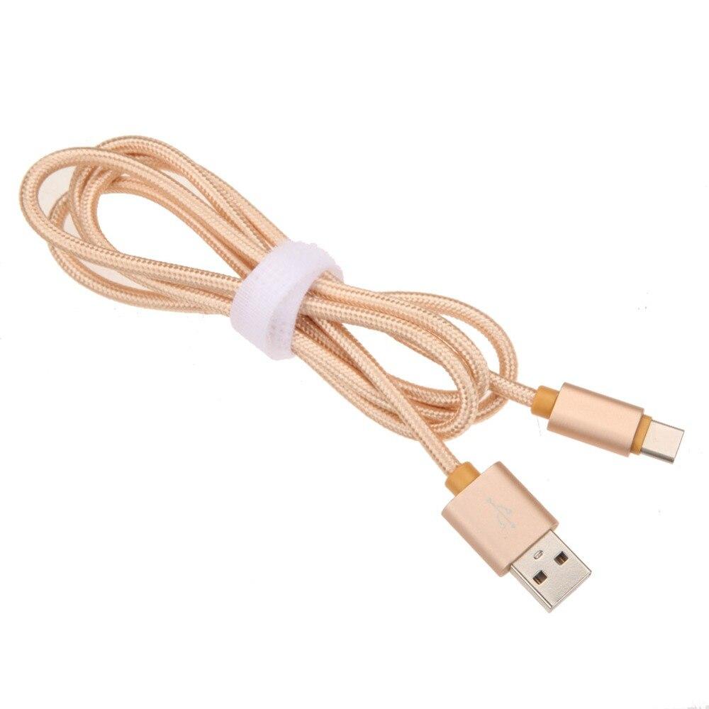 1 м плетеный нейлоновый Тип C кабель передачи данных из металла Тип штекера-C USB3.1 Быстрый быстрой зарядки шнур Провода линии для Планшеты ПК ...