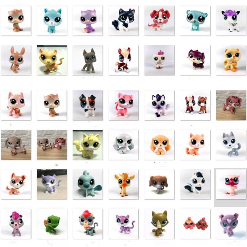 BIXE LPS Cat Pet Shop Toy Short Hair Cat Great Dane Dachshund Collie Figure Collection Classic Pet Cosplay Action Kids Toy Gifts