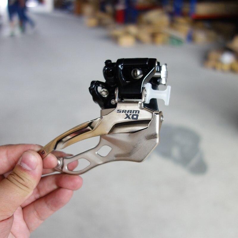 SRAM X0 XO 3s Speed MTB Front Derailleur 34.9mm High Clamp Top & Bottom Dual Pull