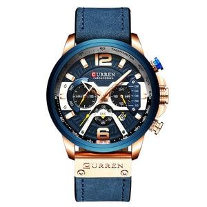 Image 5 - Curren męskie zegarki Top marka luksusowy chronograf mężczyźni zegarek skórzany luksusowy wodoodporny zegarek sportowy mężczyźni mężczyzna zegar człowiek zegarek
