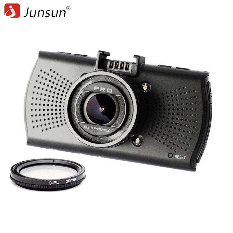 imágenes para Junsun A12 Cámara Del Coche DVR de Ambarella FHD 2560*1440 P Grabador de Vídeo Dashcam Dvr Registrador de La Visión Nocturna Con CPL Filtro polarizador