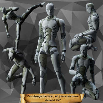 28cm 2 Versions Heavy Industries Synthetic Human 1/6 and 1/12 Scale Action Figure Collectible Model Toy Gift Dropshipping - DISCOUNT ITEM  16 OFF Toys & Hobbies