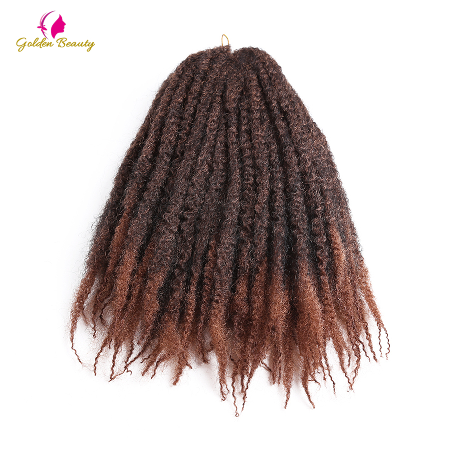 Golden Beauty Afro Kinky Crochet Hair Extensions Synthetic Twist Crochet Hair for Braiding 18inch Marly Braids 14 colors