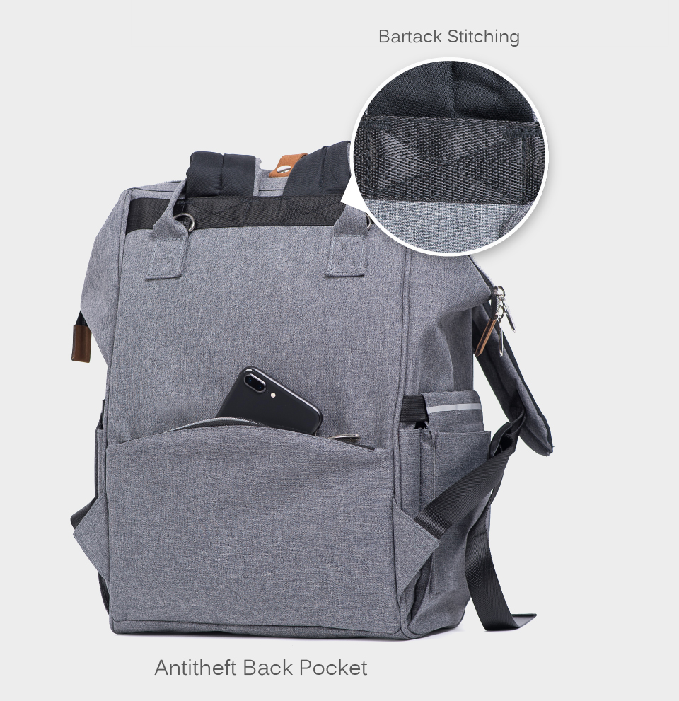 HTB1CekTlRnTBKNjSZPfq6zf1XXaV Alameda Fashion Mummy Maternity Bag Multi-function Diaper Bag Backpack Nappy Baby Bag with Stroller Straps for Baby Care