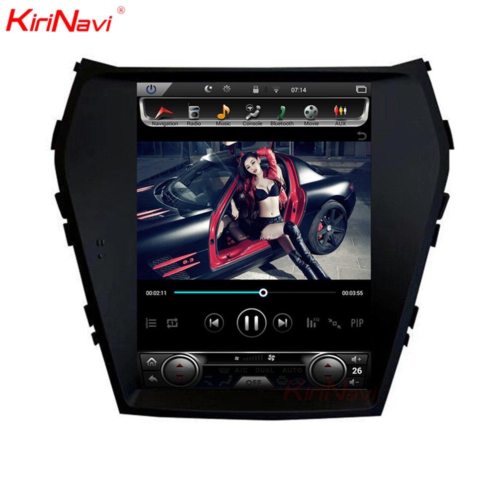 KiriNavi Vertical Screen Tesla Style 10.4 Inch Adroid Car Radio For Hyundai IX45 Santa Fe Navigation DVD Player GPS 2013 +