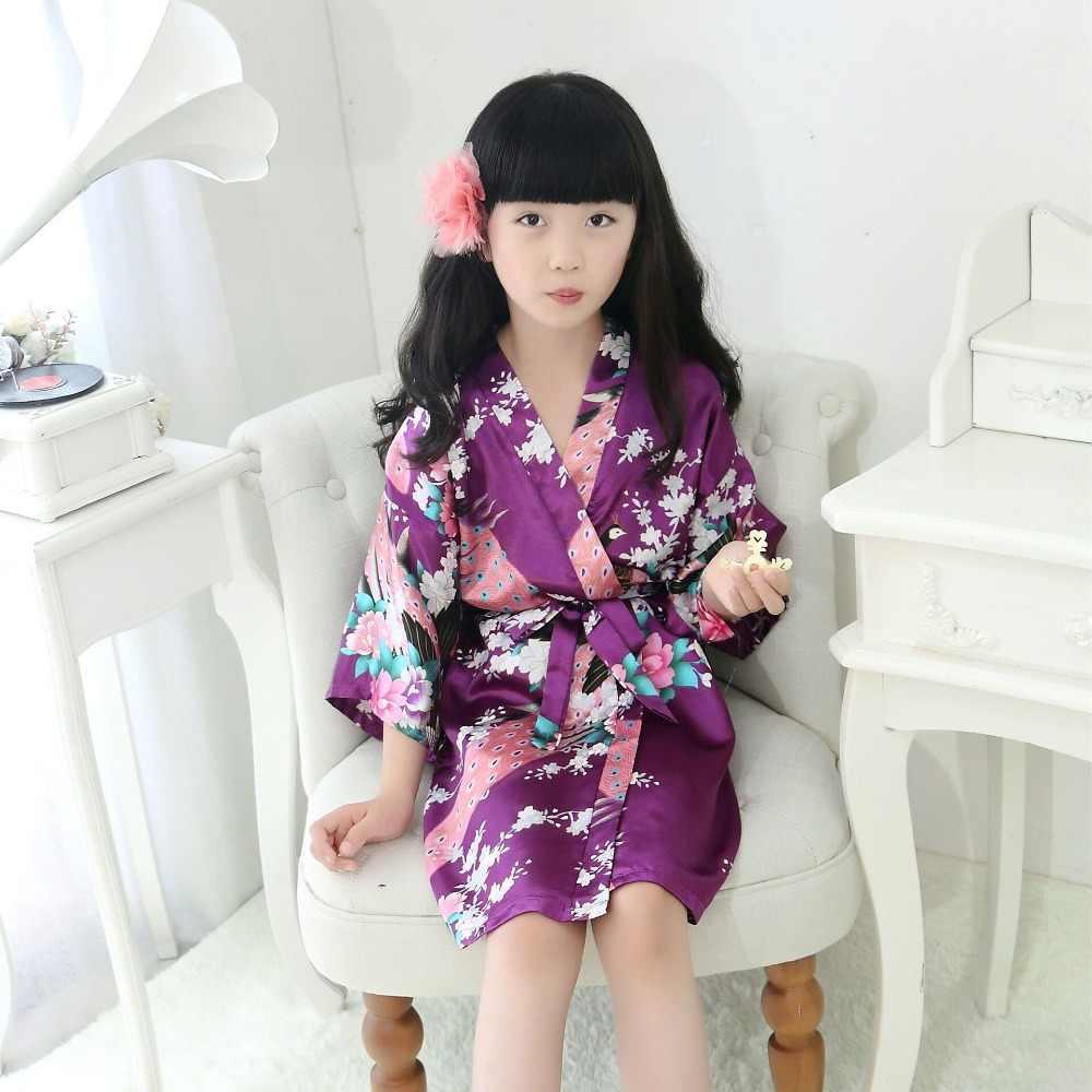 ホットピンクの女の赤ちゃん着物バスローブ子供ナイトガウンフェパジャマ子供ネグリジェのスパースターサイズ 4 6 8 10 12 XTZ-806