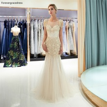 Forevergracedress Gold Prom Dresses 2019 Mermaid Tulle