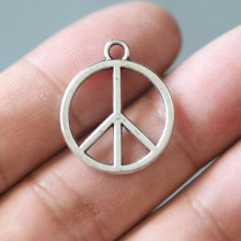 27X23 mm Tibetan Silver Plated Peace Charms Pendants Jewelry Accessories Making Bracelet Necklace Earrings 10PCS