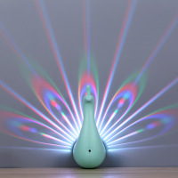 Peacock 3D Lamp LED Night Light Touch Table Lamp 7 Color Change Powered by Battery USB Christmas gift