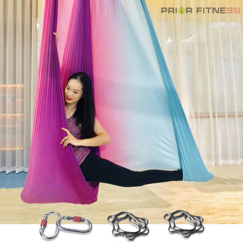 New High Strength Colorful Aerial Yoga Hammock 5mx2 8m Anti Gravity Yoga Belts For Exercise Yoga